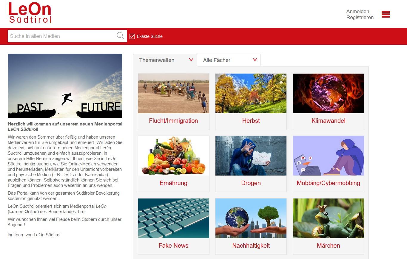 LeOn Südtirol-Website